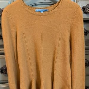 Antonio Melani Mustard Peplum Sweater. Small.